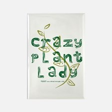 Crazy Plant Lady Rectangle Magnet