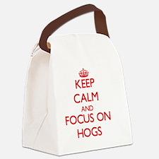 Unique Hog Canvas Lunch Bag