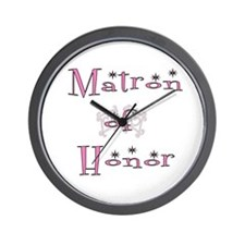 Matron of Honor Wall Clock