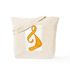 """Orange Ribbon Twist"" Tote Bag"