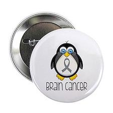"Brain Cancer Penguin 2.25"" Button (10 pack)"