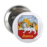 Snow Lion + Dharma Button