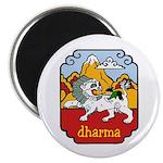 Snow Lion + Dharma Magnet