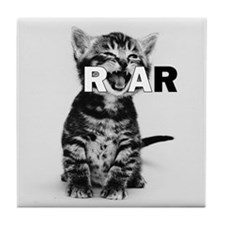 KITTEN ROAR Tile Coaster