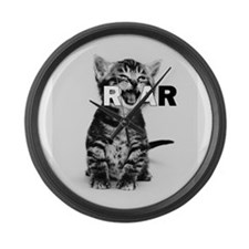 KITTEN ROAR Large Wall Clock