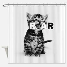 Kitten Roar Shower Curtain