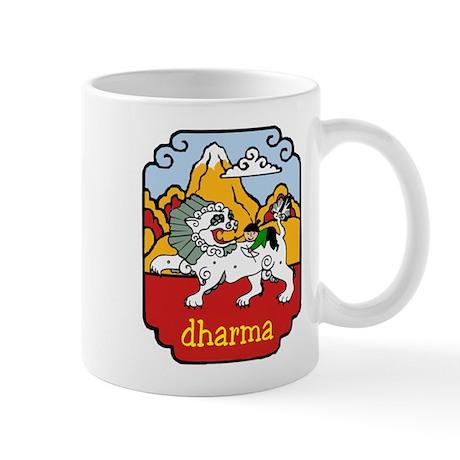 Snow Lion + Dharma Mug