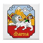 Snow Lion + Dharma Tile Coaster