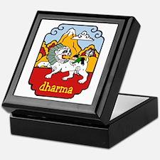 Snow Lion + Dharma Keepsake Box