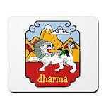 Snow Lion + Dharma Mousepad