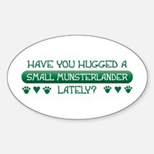 Hugged Moonster Oval Decal