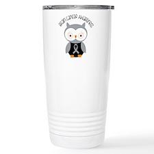 Brain Cancer Gray Owl Travel Mug
