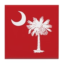 Red South Carolina Flag Tile Coaster