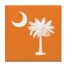 Orange South Carolina Flag Tile Coaster