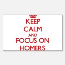 Keep Calm and focus on Homers Decal