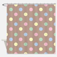 Pastel Polkadot Shower Curtain