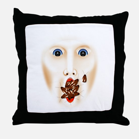 Unique Haunted house Throw Pillow