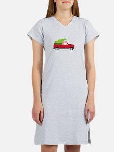 Red Christmas Truck Women's Nightshirt