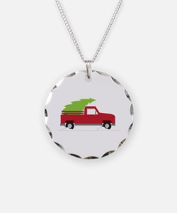Red Christmas Truck Necklace