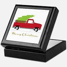 25. Red Pick up Truck Christmas Tree Keepsake Box