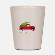 25. Red Pick up Truck Christmas Tree Shot Glass