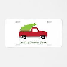 Hauling Holiday Cheer Aluminum License Plate