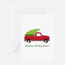 Hauling Holiday Cheer Greeting Cards