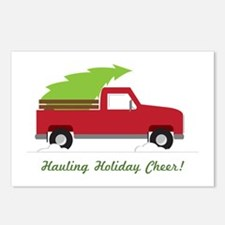 Hauling Holiday Cheer Postcards (Package of 8)