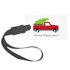 Hauling Holiday Cheer Luggage Tag