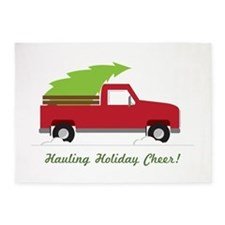 Hauling Holiday Cheer 5'x7'Area Rug