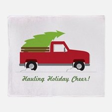Hauling Holiday Cheer Throw Blanket