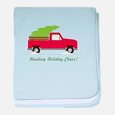 Hauling Holiday Cheer baby blanket