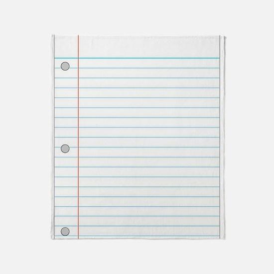 Notebook Throw Blanket