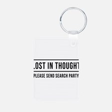 Lost in thought, Please send search party Keychain
