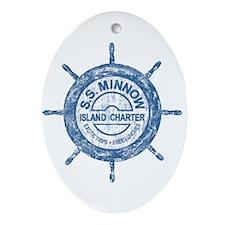 S.S. MINNOW ISLAND TOURS Ornament (Oval)