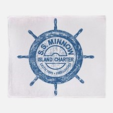 S.S. MINNOW ISLAND TOURS Throw Blanket