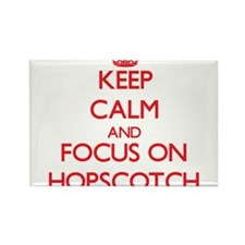 Keep Calm and focus on Hopscotch Magnets