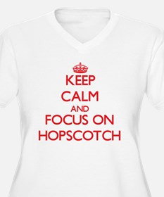 Keep Calm and focus on Hopscotch Plus Size T-Shirt