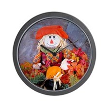Scarecrow Holiday Wall Clock