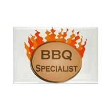 BBQ Specialist Rectangle Magnet