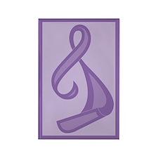 """Purple Ribbon Twist"" Rectangle Magnet (10 pack)"