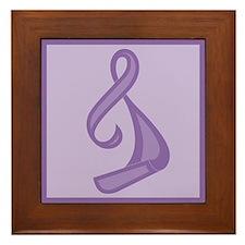 """""""Purple Ribbon Twist"""" Framed Tile"""