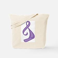 """Purple Ribbon Twist"" Tote Bag"