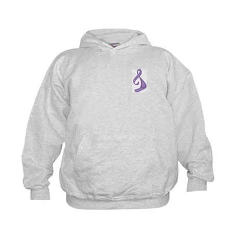 """Purple Ribbon Twist"" Kids Sweatshirt"