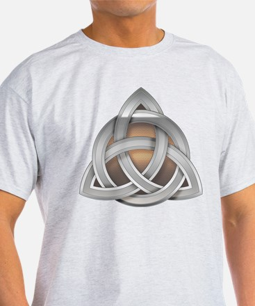 Silver Triquerta with Amber Glow T-Shirt