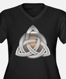 Silver Triquerta with Amber Glow Plus Size T-Shirt