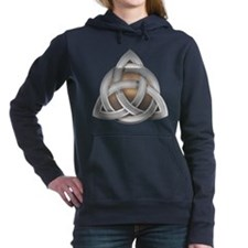 Silver Triquerta with Amber Glow Women's Hooded Sw