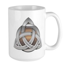 Silver Triquerta with Amber Glow Mugs
