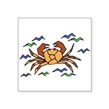 Orange Crab Sticker
