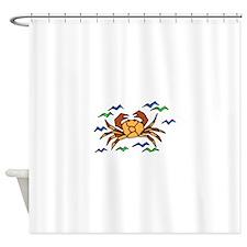 Orange Crab Shower Curtain